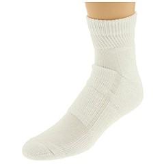 image of Ecco Socks Thick Coolmax Anklet Socks 4-Pack (White) Men's Crew Cut Socks Shoes