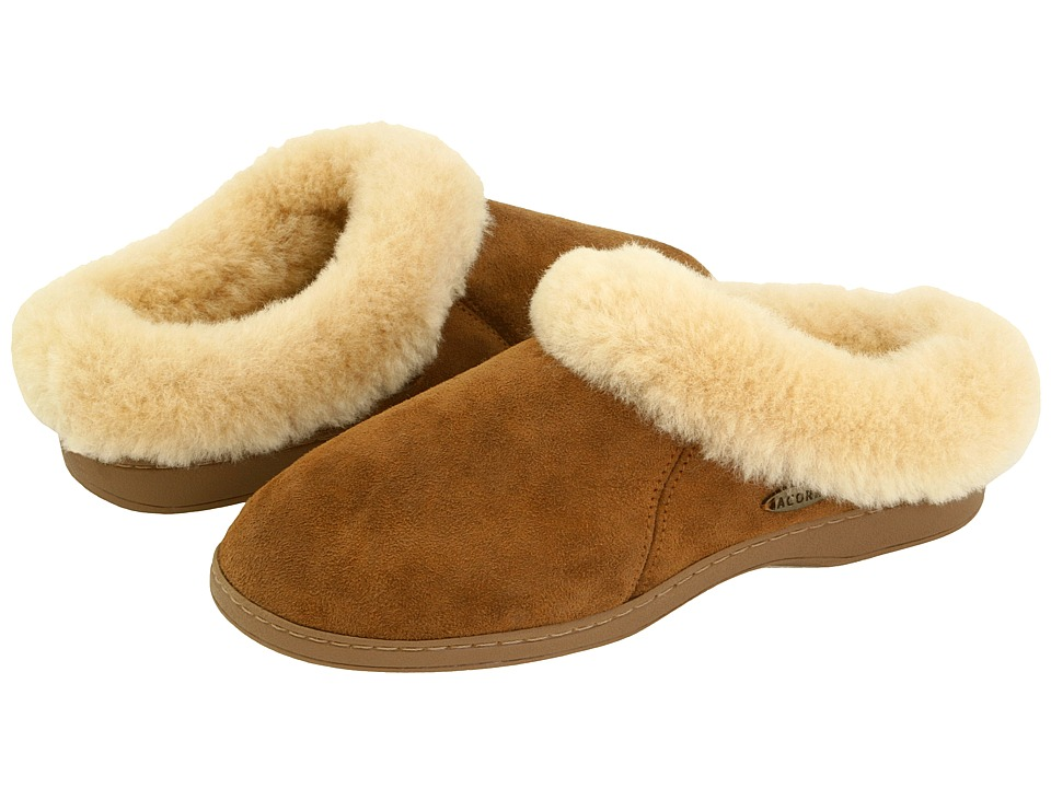 image of Acorn Ewe Collar (Walnut Sheepskin) Women's Slippers