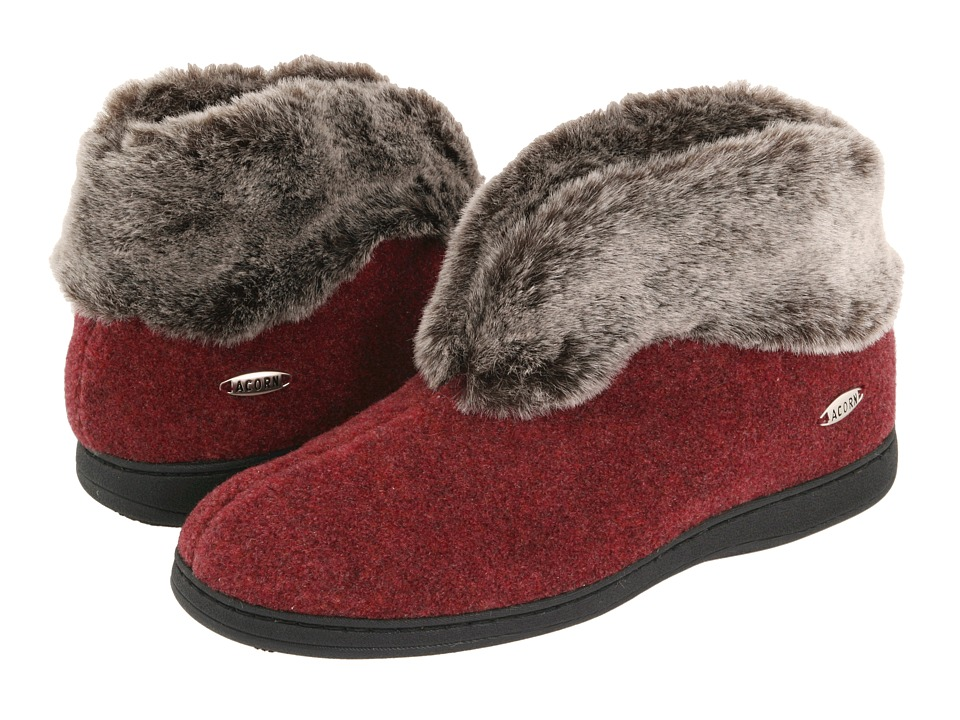 image of Acorn Faux Chinchilla Bootie II (Crackleberry) Women's Boots