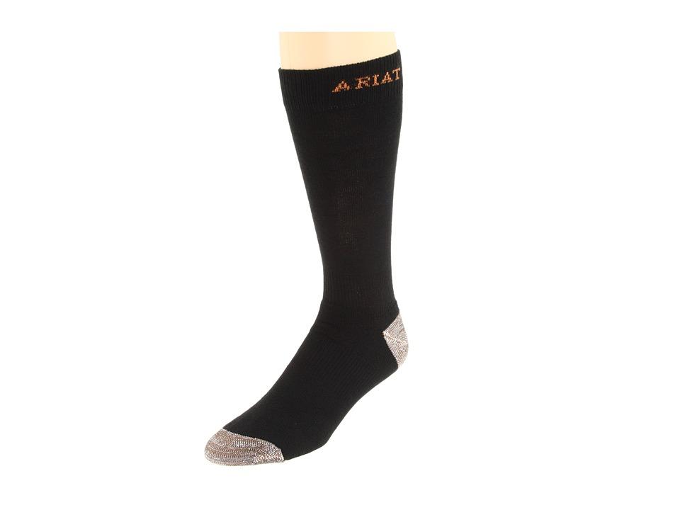 image of Ariat Sport Socks 1-Pair Pack (Black) Men's Crew Cut Socks Shoes