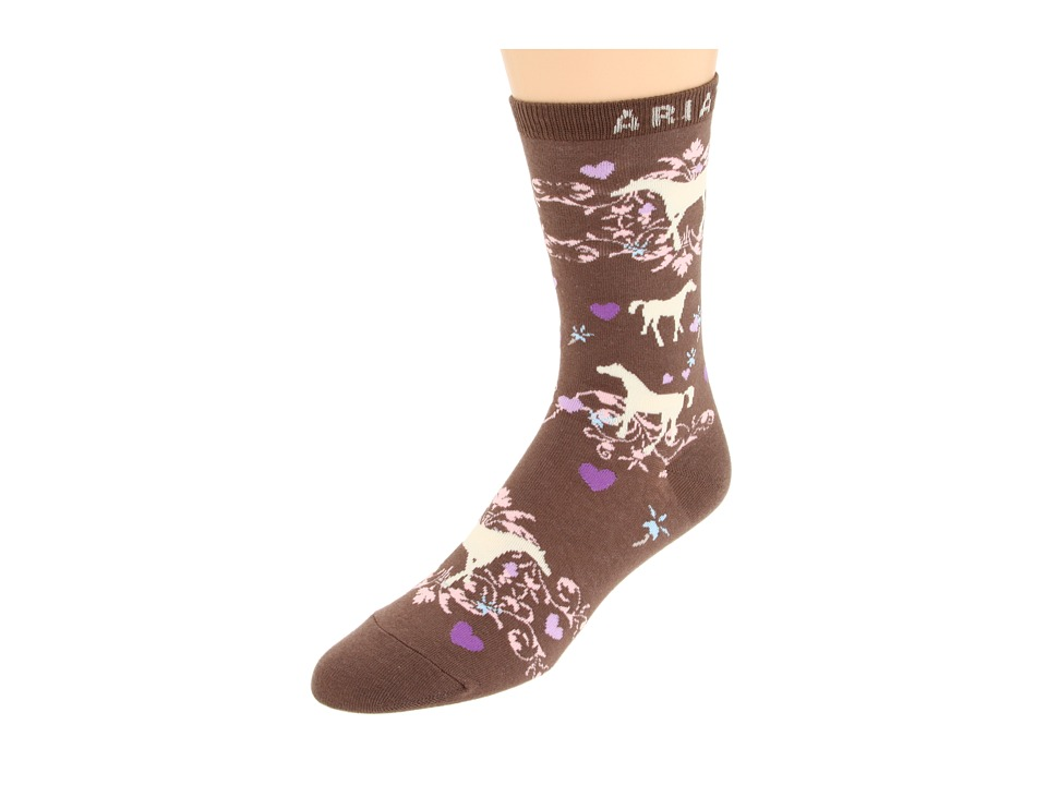 image of Ariat Horse Love Ankle Socks 1-Pair Pack (Taupe) Women's Crew Cut Socks Shoes