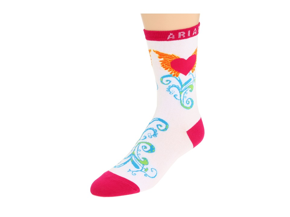 image of Ariat Winged Heart Ankle Socks 1-Pair Pack (White) Women's Crew Cut Socks Shoes