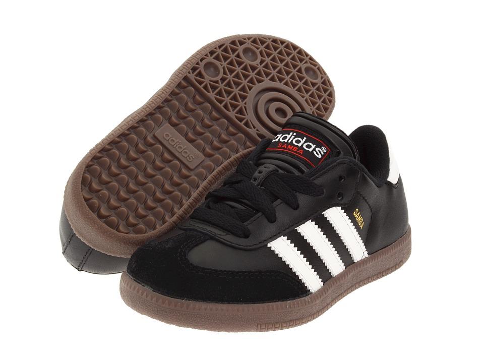 image of adidas Kids Samba Classic Core (Toddler/Little Kid/Big Kid) (Black/Running White) Kids Shoes