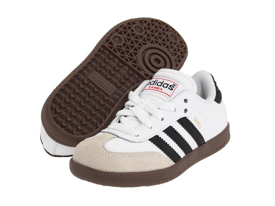 image of adidas Kids Samba Classic Core (Toddler/Little Kid/Big Kid) (Running White/Black) Kids Shoes