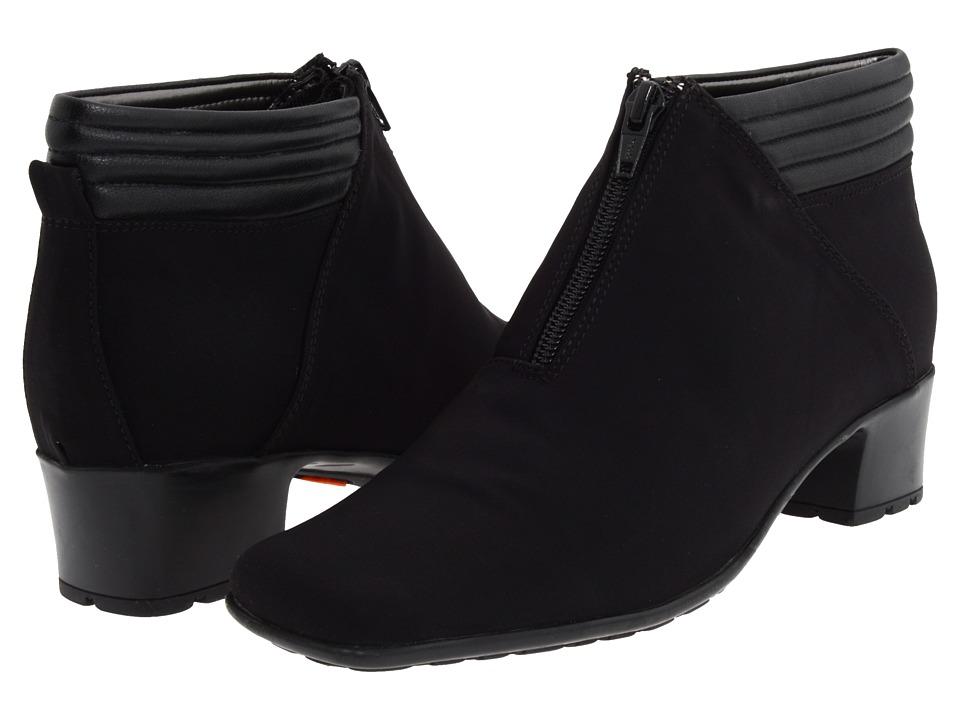 image of Sesto Meucci Sarine (Black Fabric/Black Nappa) Women's Zip Boots