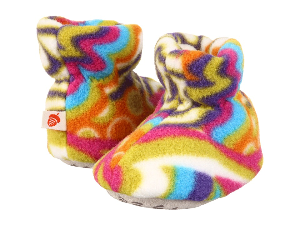 image of Acorn Kids Easy Bootie (Infant/Toddler) (Kaboom White) Girls Shoes