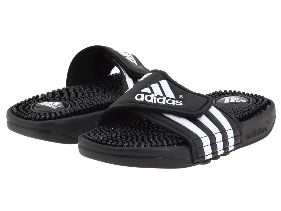 image of adidas Kids Adissage K Core (Toddler/Little Kid/Big Kid) (Black/White) Kids Shoes