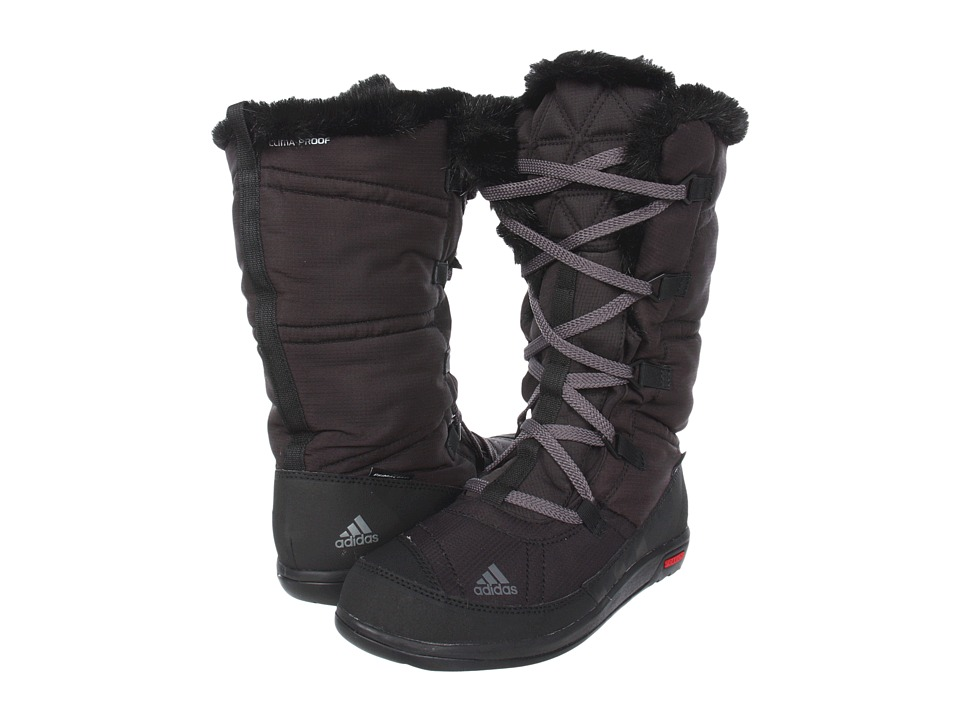 image of adidas Outdoor Choleah Laceup CP Pl (Solid Grey/Black/Grey Rock) Women's Cold Weather Boots