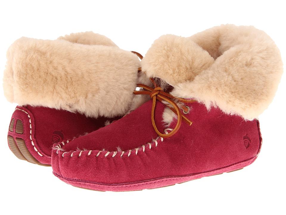 image of Acorn Sheepskin Moxie Boot (Raspberry) Women's Boots