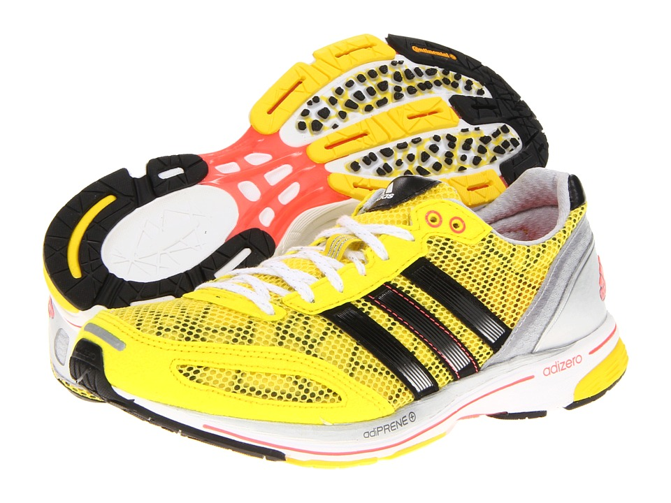 image of adidas Running adiZero adios (Vivid Yellow/Black/Metallic Silver) Women's Running Shoes