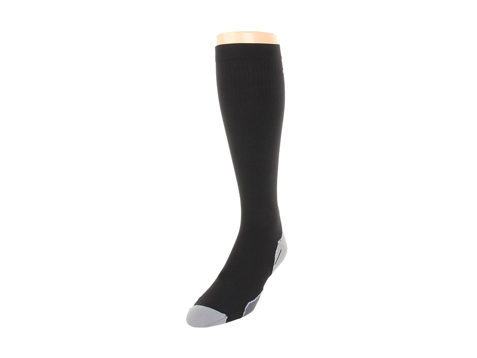 image of 2XU Compression Recovery Sock (Black/Black) Men's Knee High Socks Shoes