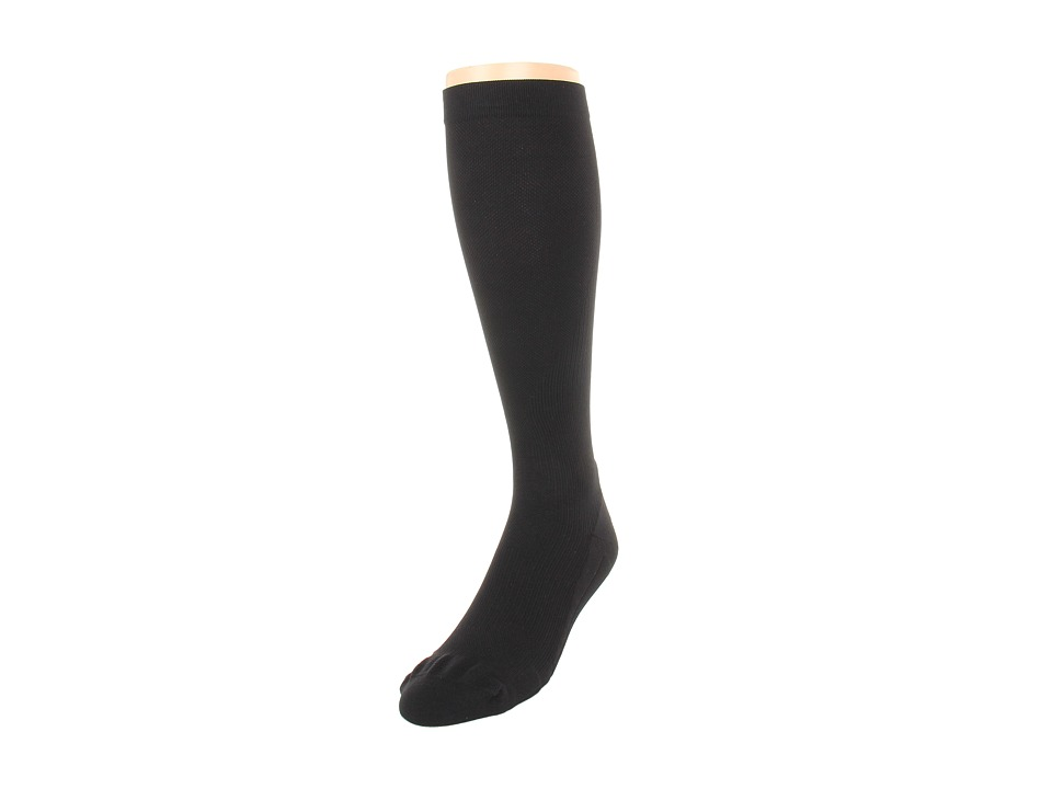 image of 2XU Compression Performance Run Sock (Black/Black) Men's Knee High Socks Shoes