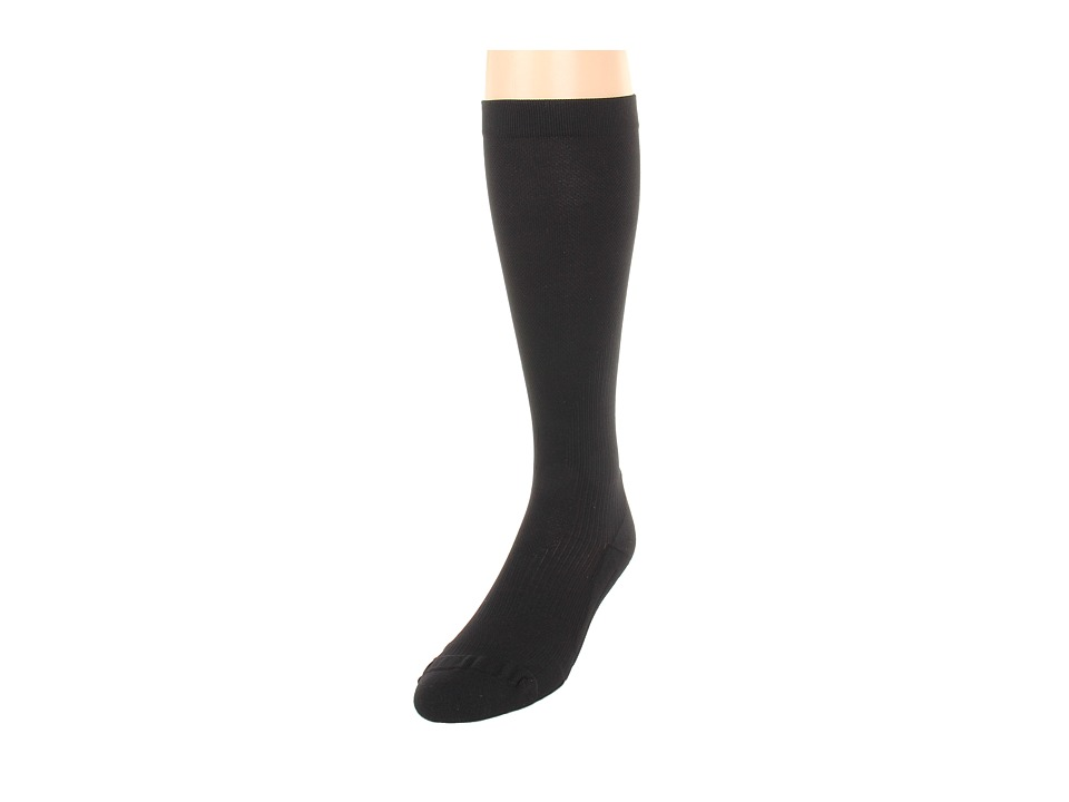 image of 2XU Compression Performance Run Sock (Black/Black) Women's Knee High Socks Shoes