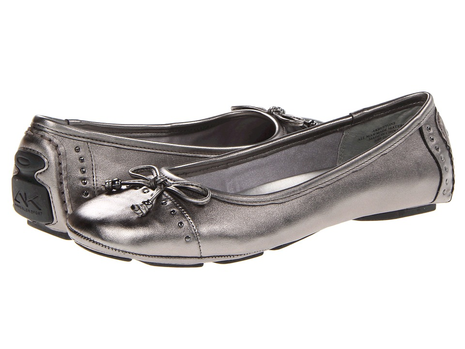 image of Anne Klein Buttons (Pewter 2) Women's Flat Shoes