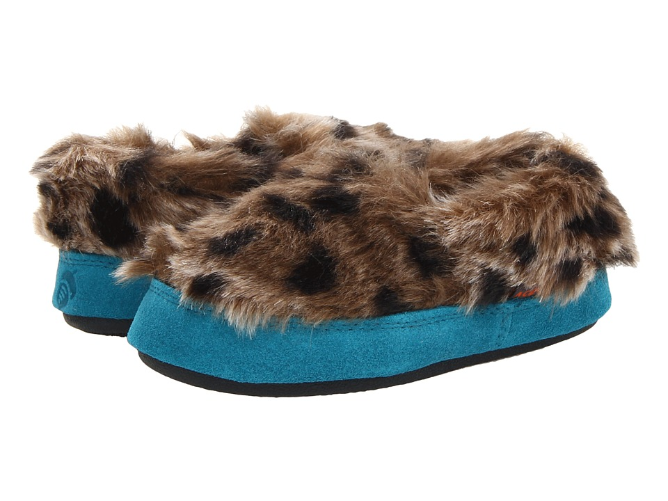 image of Acorn Kids Tex Moc (Toddler/Little Kid/Big Kid) (Snow Leopard) Girls Shoes