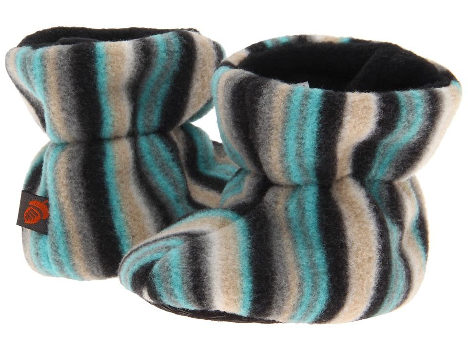 image of Acorn Kids Easy Bootie (Infant/Little Kid/Big Kid) (Neutral Fun Stripe) Boys Shoes