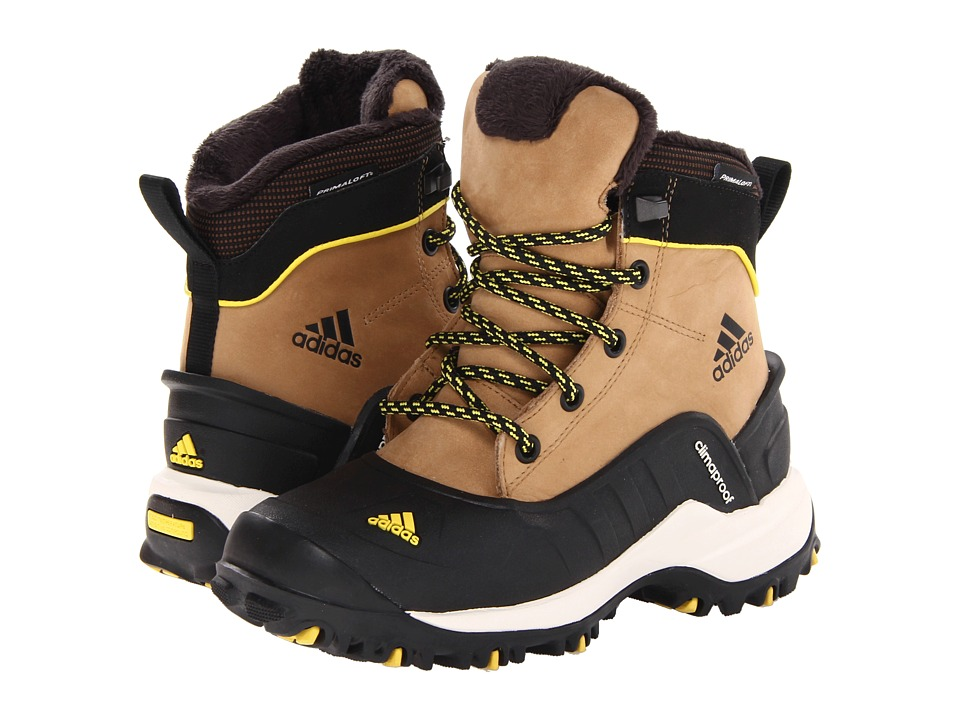 image of adidas Outdoor Kids Holtanna CP (Little Kid/Big Kid) (Craft Canvas/Black/Vivid Yellow) Kids Shoes