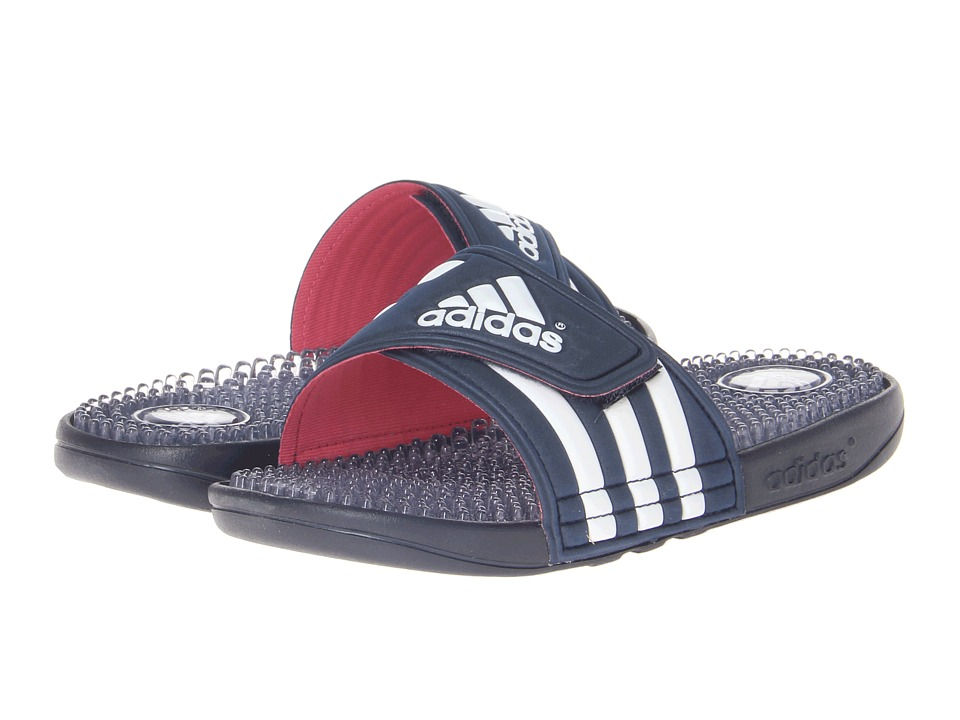 image of adidas adissage Fade (Collegiate Navy/Running White/Bahia Pink) Women's Slide Shoes