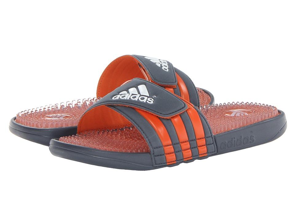 image of adidas Adissage Fade Graphic (Dark Onix/Orange/White) Men's Slide Shoes