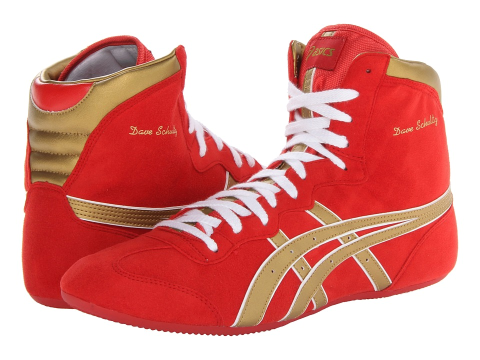ASICS Dave Schultz Classic (Red/Gold/White) Wrestling Shoes - $100.00