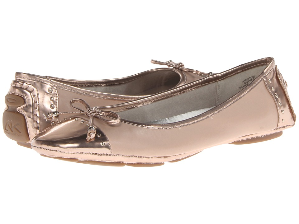 image of Anne Klein Buttons (Rose Gold) Women's Flat Shoes