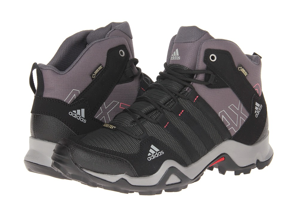 image of adidas Outdoor AX 2 Mid GTX W (Carbon/Black/Bahia Pink) Women's Hiking Boots