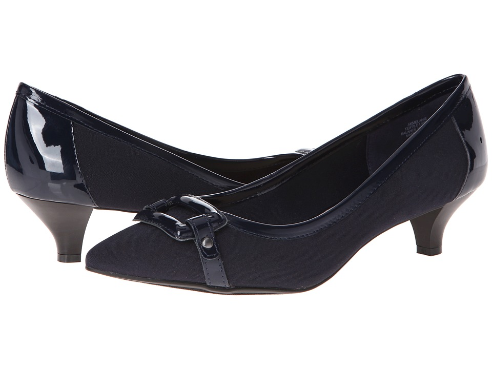 image of Anne Klein Melanie (Navy Fabric) Women's Shoes