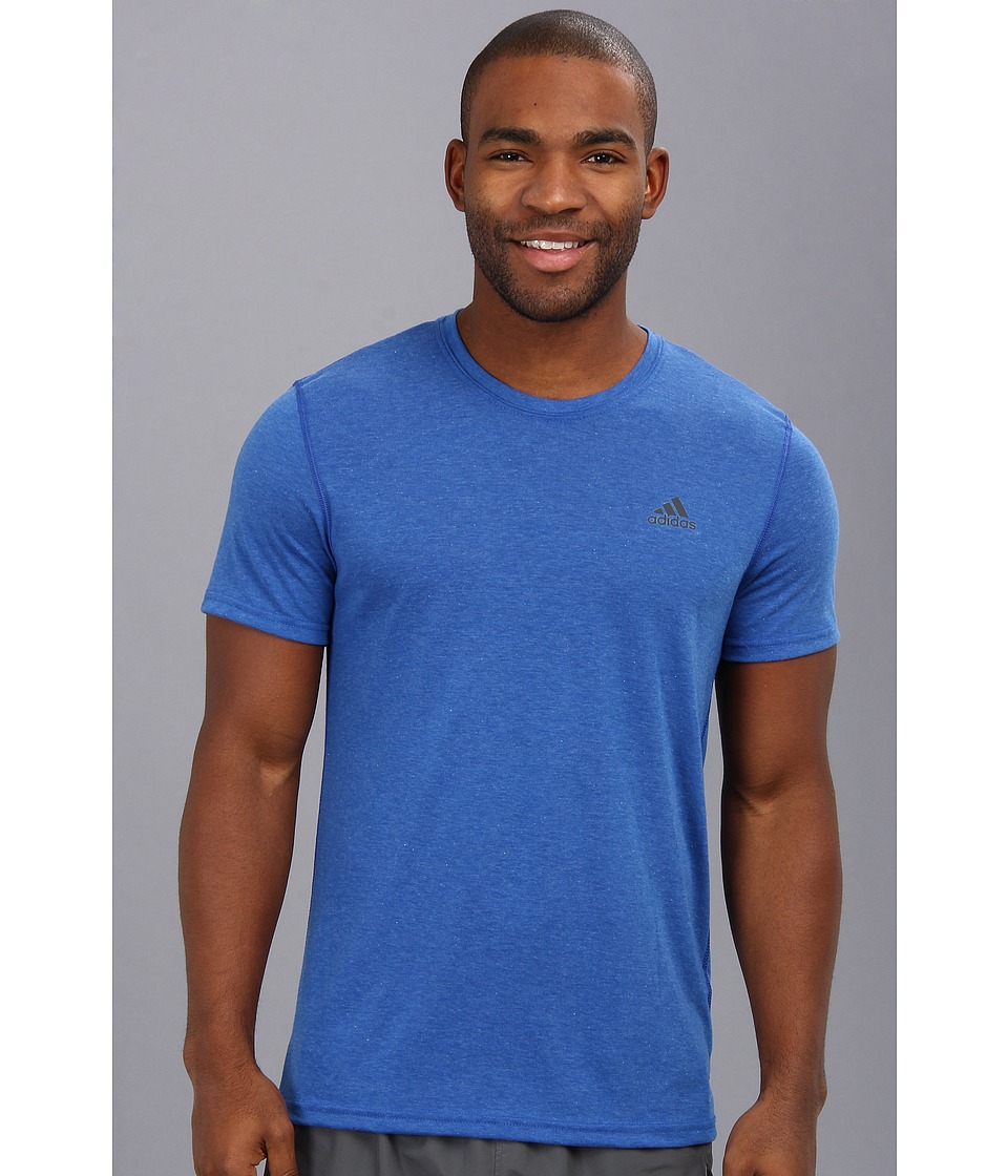 image of adidas CLIMA Ultimate Tee (Collegiate Royal Heather/Dark Shale) Men's T Shirt