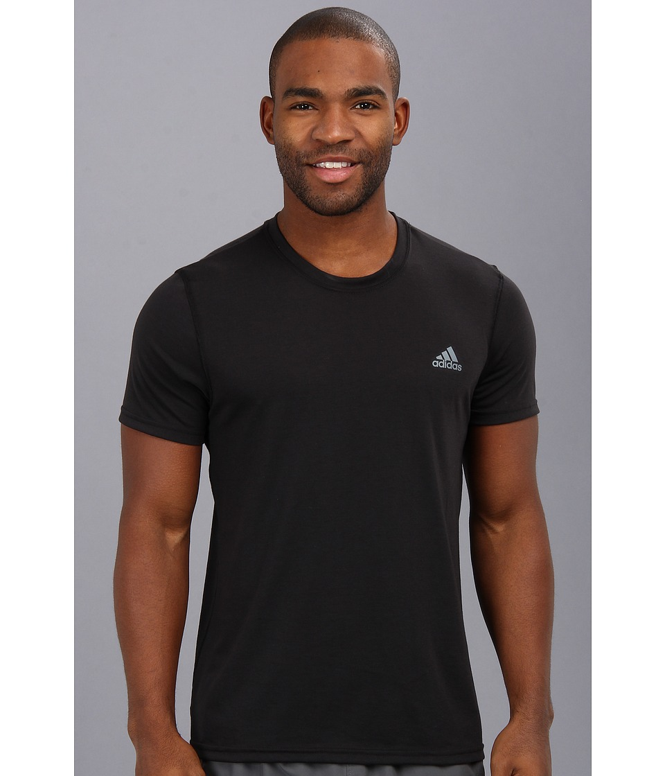 image of adidas CLIMA Ultimate Tee (Black/Lead) Men's T Shirt