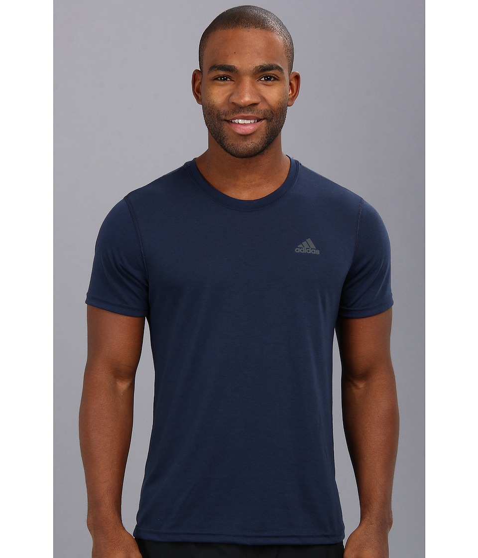 image of adidas CLIMA Ultimate Tee (Collegiate Navy/Dark Shale) Men's T Shirt
