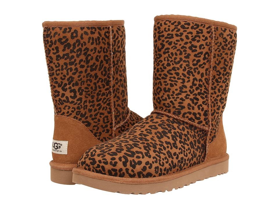 image of UGG Classic Short Rosette (Chestnut) Women's Boots