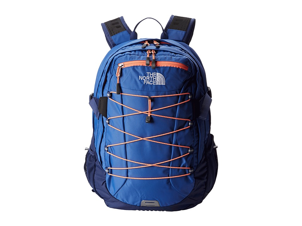 image of The North Face Women's Borealis (Coastline Blue/Electro Coral Orange) Backpack Bags