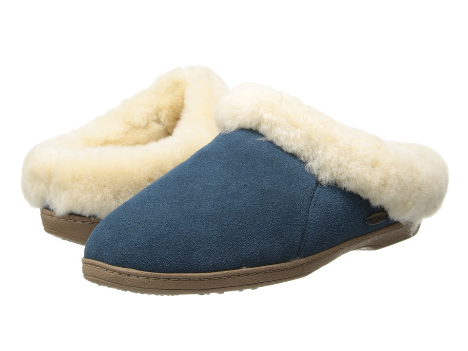 image of Acorn Ewe Collar (Navy) Women's Slippers