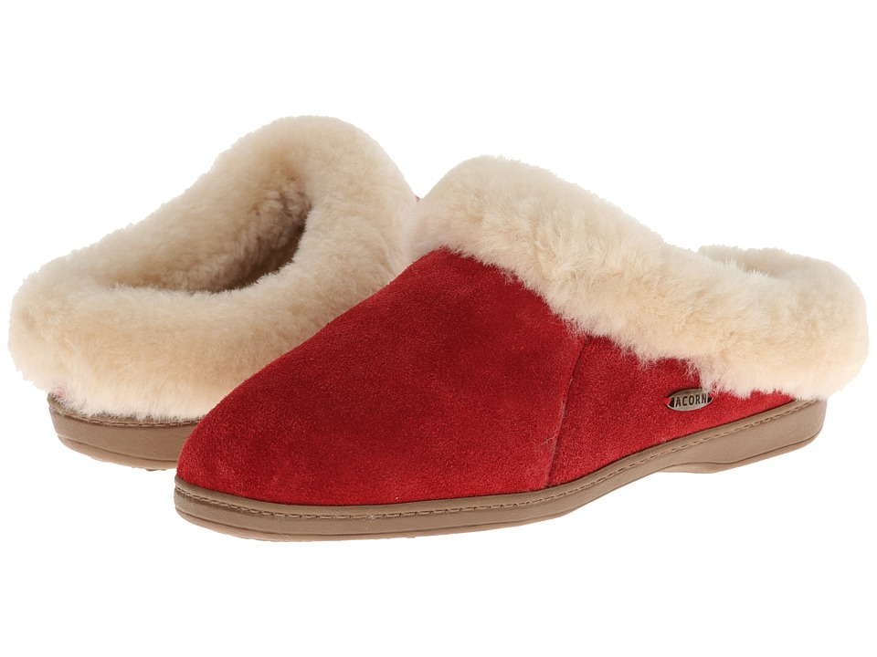 image of Acorn Ewe Collar (Winter Berry) Women's Slippers