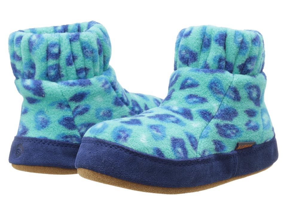 image of Acorn Kids Kadabra (Toddler/Little Kid/Big Kid) (Turquoise Leopard) Boys Shoes