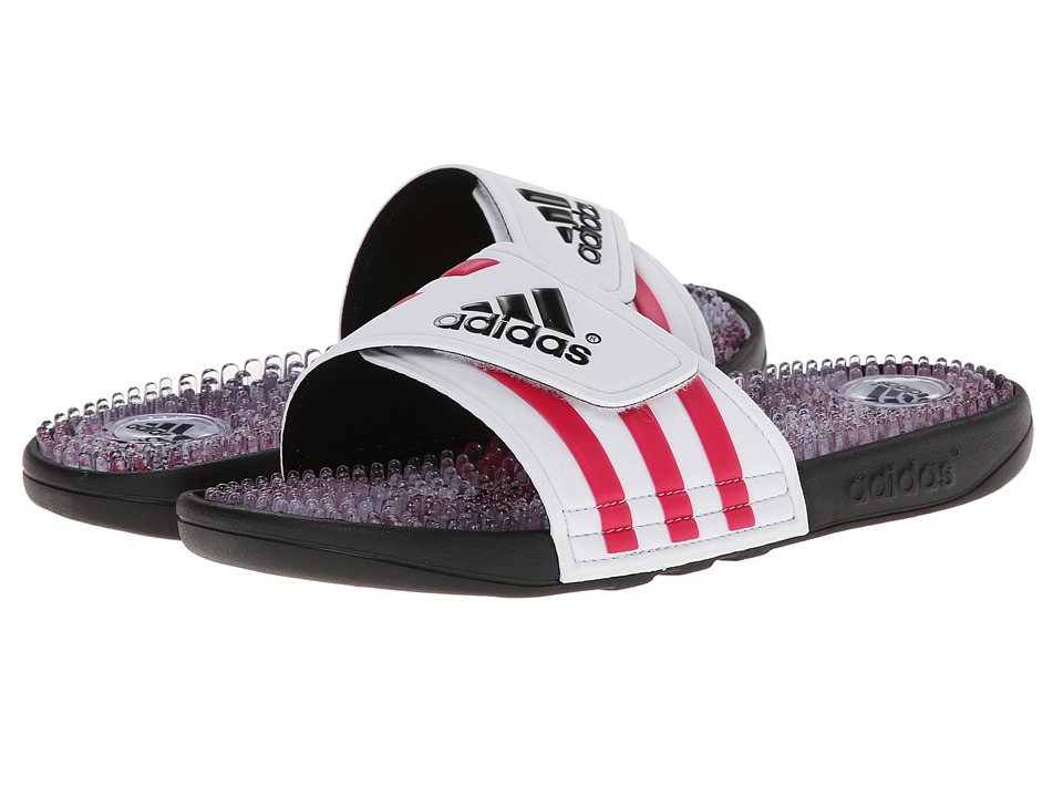 image of adidas Adissage Graphic (Black/Bold Pink/White) Women's Shoes