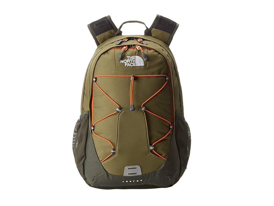 image of The North Face Jester (Burnt Olive Green/Red Orange) Backpack Bags