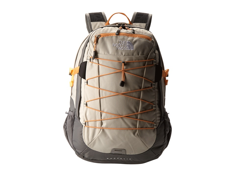 image of The North Face Women's Borealis (Ether Grey/Peach Cobbler Orange) Backpack Bags