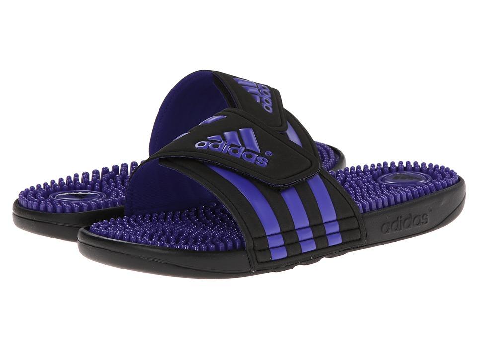 image of adidas adissage (Black/Power Purple) Women's Sandals