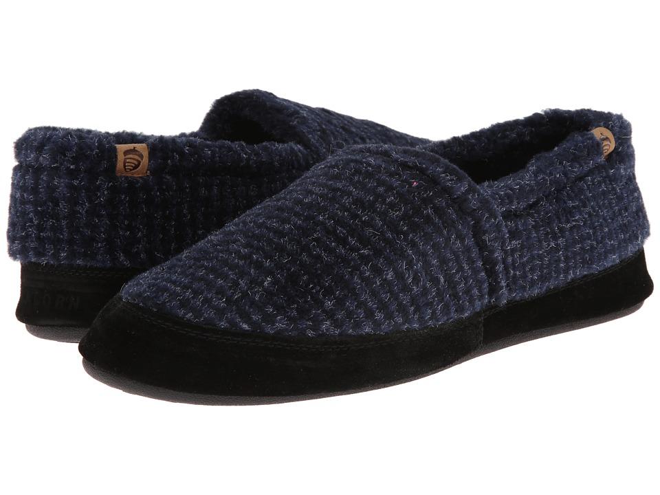 image of Acorn Acorn Moc (Blue Check) Men's Shoes