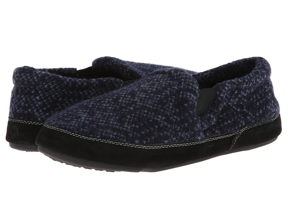 image of Acorn Fave Gore (Navy Tweed) Men's Slippers
