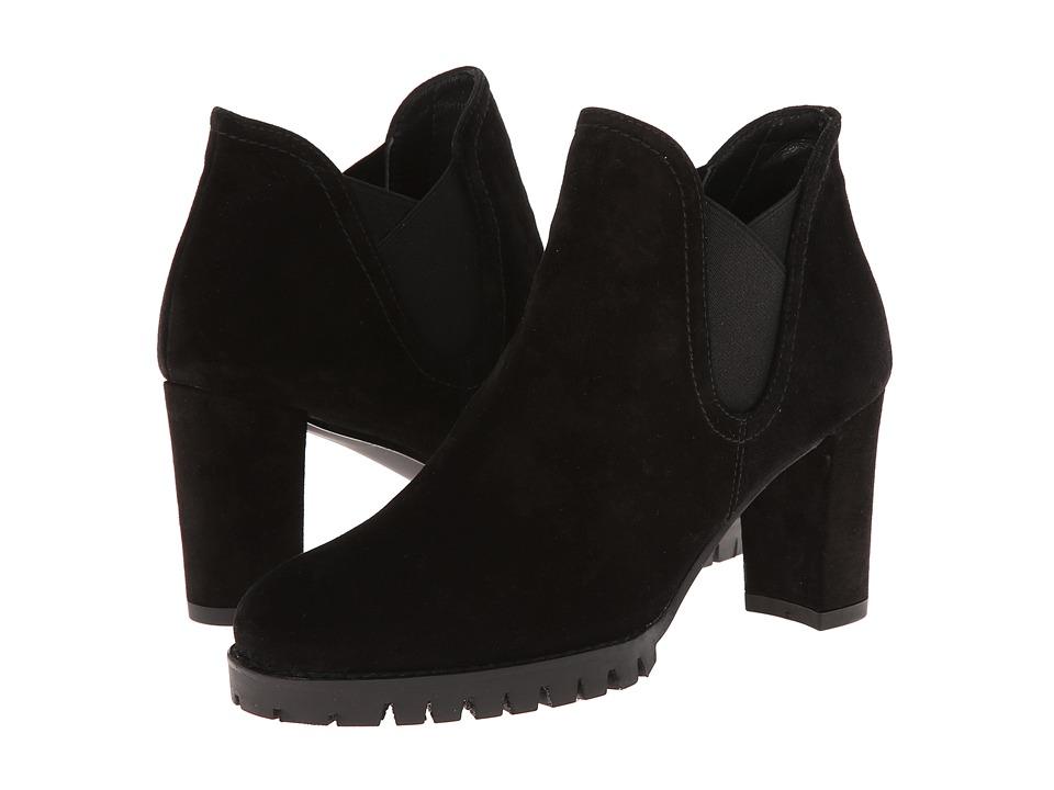 image of Stuart Weitzman Jackson (Nero Velour) Women's Pull-on Boots