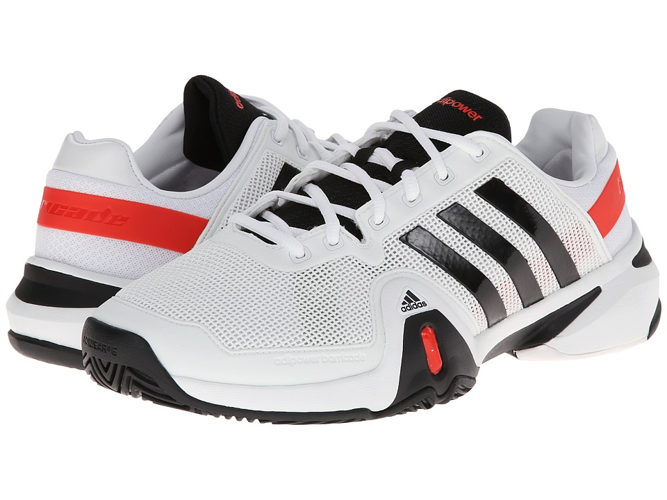 image of adidas adipower Barricade 8 (Running White/Black/Hi-Res Red) Men's Shoes