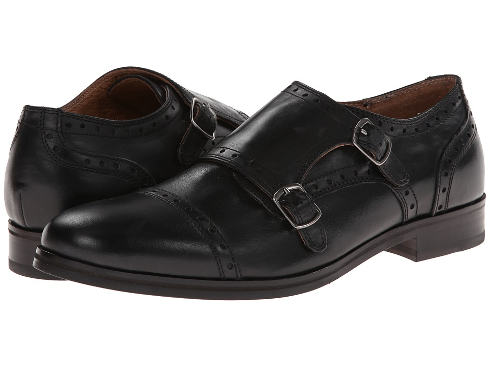 jd fisk brennan black leather s slip on shoes 179 00