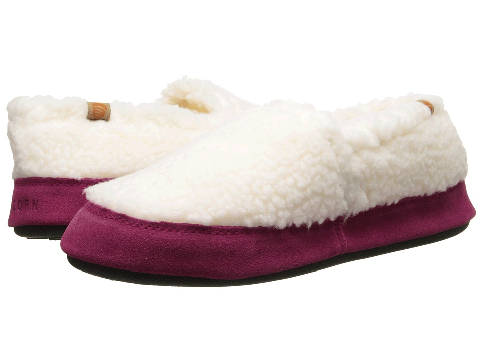 image of Acorn Acorn Moc (Buff Popcorn/Pink) Women's Moccasin Shoes