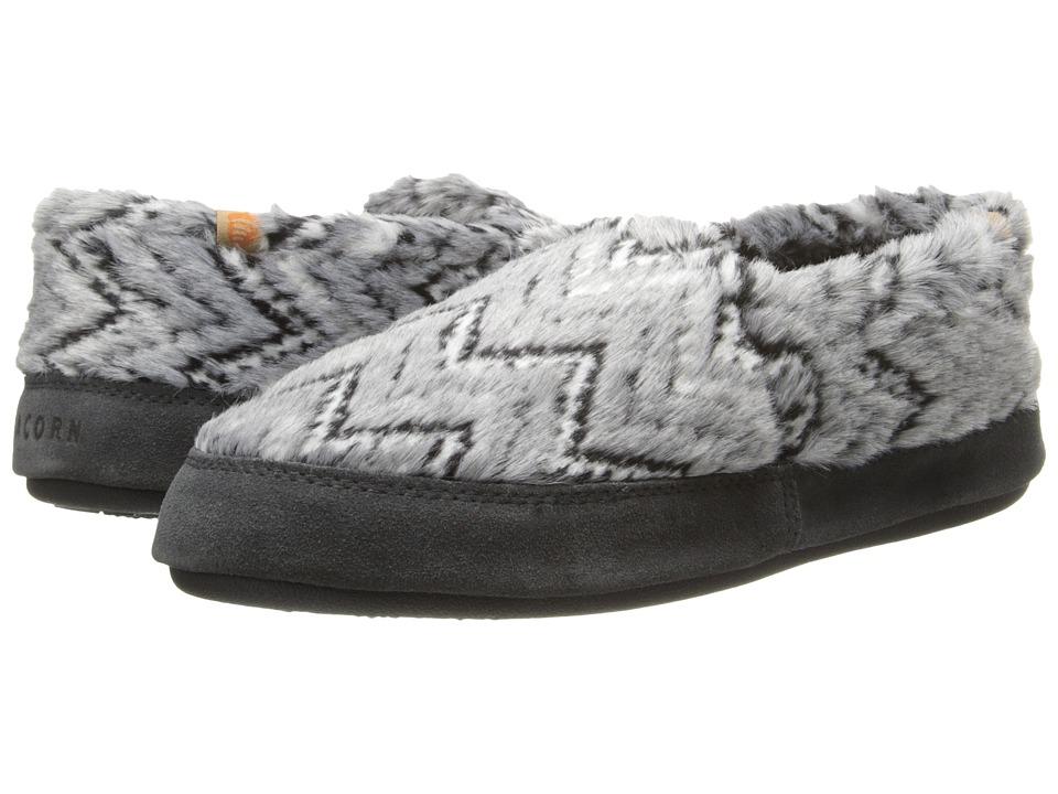 image of Acorn Acorn Moc (Grey Zig-Zag) Women's Moccasin Shoes