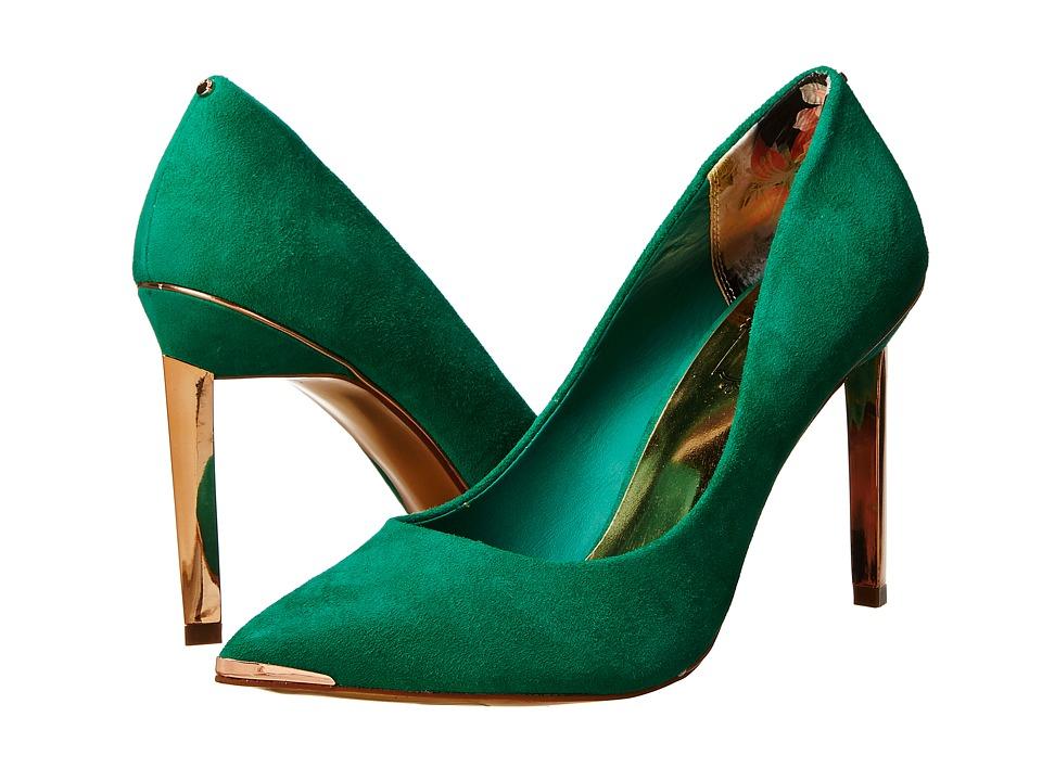 ted baker elvena green suede high heels. Black Bedroom Furniture Sets. Home Design Ideas