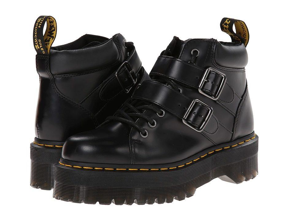 seleziona per il meglio ultima collezione fornitore ufficiale Dr. Martens Bryony Lace Buckle Boot (Black Polished Smooth ...