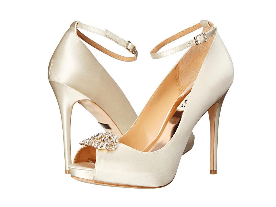 Badgley Mischka Finley (Ivory Satin) High Heels - $245.00