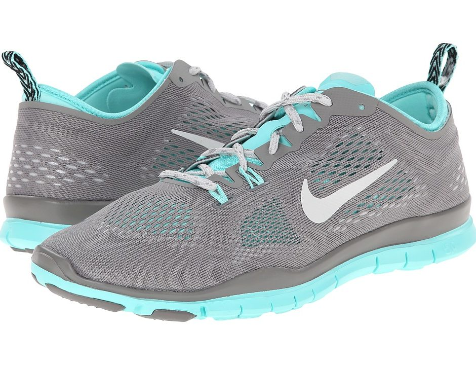 brand new 2dc73 569dd Nike Free 5.0 TR Fit 4 (Light Ash/Hyper Turquoise/Light Ash Grey) Women's  Running Shoes